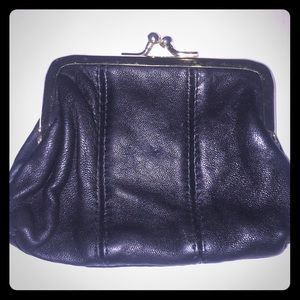 Vtg leather small coin purse (1970's)